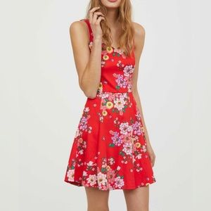 Divided H&M | Red floral dress size 8